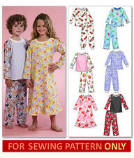 SEWING PATTERN! MAKES NIGHTGOWN~PAJAMAS! BOY & GIRL! TODDLER 1 TO CHILD 6! PJS!