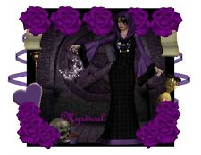 Custom Made T Shirt Awesome Mystical Wiccan Goddess Witch Roses Magical NWOT