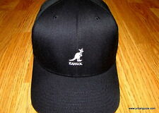 Black  Kangol  Wool  Flexfit  Baseball  Cap