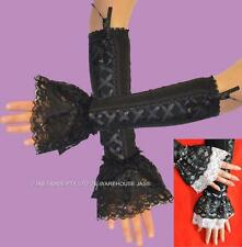 Party Punk Goth Gothic 80's 20s gloves Lace Fingerless Sleeve Dance Cuffs LOLITA