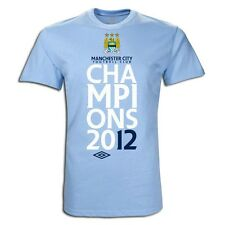 Umbro Manchester City Champions 2012 Soccer Shirt Brand New - Baby Blue