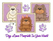 Custom Made T Shirt Choice Cats or Dogs Leave Pawprints In Your Heart Cute NWOT