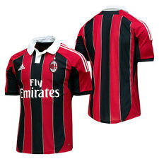 adidas AC Milan  ( Italy ) Calcio 2012-2013 Home Soccer Jersey New Red / Black