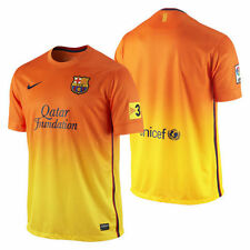 Nike FC Barcelona Season 2012-2013 Away Soccer Jersey Orange/Yellow Brand New