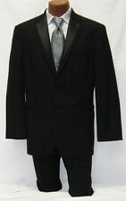 Mens Black Oscar De La Renta Trilogy 2 Btn Tuxedo Package w/ Pants Vest, Tie 40R
