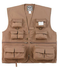 VEST FISHING HUNTING TRAVEL KIDS KHAKI UNCLE MILTY VARIOUS SIZES ROTHCO 8546