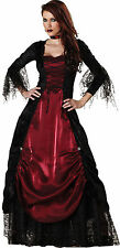 Sexy Halloween Deluxe Adult Gothic Vampire Full-Length Dress Costume