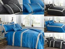 Luxury Embroidered Bedding in Turquoise or Black - Duvet Covers, Throws & More