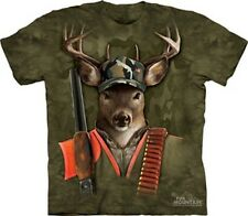 HUNTER BUCK T-SHIRT NEW THE MOUNTAIN DEER HUNT GRAPHIC TEE AWESOME DESIGN