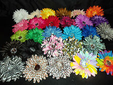 WHOLESALE LOT 12 gerbera DAISY flower crafts WEDDING hair TUTU one color dozen