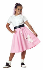 Child 50s Pink Poodle Skirt Costume Halloween