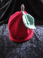 Hand Knitted Cashmere & Wool Apple, Plum, Watermelon, Fruit Baby Hats 0-24months