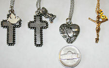 """Christian Theme metal Necklace -24"""" Chain - Designs by Beverly Goding"""