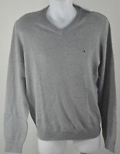 Tommy HOMME PULL NEUF 100% Coton GRIS COLV tailles S M L XL XXL dispos