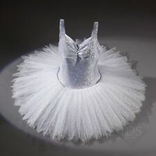 Superbe glace argent hologramme Tutu Pearlised dentelle bord à plumes