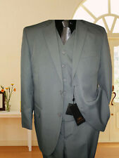 3pcs NWT MENS SUIT Grey tone on stripe  36S 38S 38R 40S 40R 40L 42S 42R 42L S545
