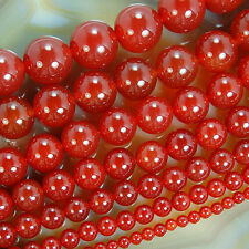 AAA Red Agate Round Gemstone Beads 4mm 6mm 8mm 10mm 12mm 14mm 16mm Pick Size