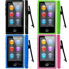 Fits, iPod Nano 7 Case,7th Gen Cover, Compatible For Apple, TPU Belt Clip Series