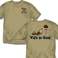 Wife is good Camping - T-Shirt - Adult Sizes
