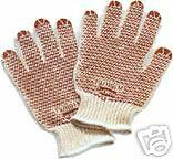 "NEW LOT of 12-pair NORTH CLEAN GRIP ""N"" DOT GLOVES 79/1191 SIZES: Small & Medium"