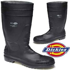 MENS DICKIES WELLINGTONS SUPER SAFETY BOOTS STEEL TOE CAPS WELLIES BOOTS SHOES