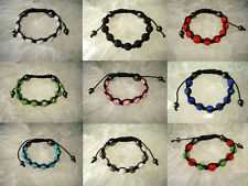 Premium Crystal clay Disco Balls Shamballa Bracelet 9*10mm 9 colors Ship From US