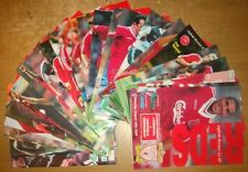 Liverpool Home Programme's 1995-1996 Premiership + Cup's