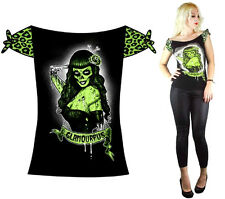 TOO FAST TATTOO ZOMBIE GOTHIC PUNK EMO ROCKABILLY PIN UP GLAMOURPUS SKULL SHIRT