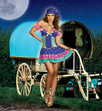 Sexy Adult Halloween DreamGirl Queen of the Gypsies Fortune Teller Costume