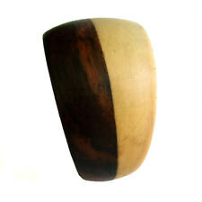 Ring RINGS WEDDING  organic two tone new wood wooden ornate band HANDMADE AR038