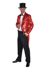 Sequinned Showman / Cabaret Tailcoat Jackets - RED