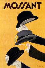 MOSSANT FAMOUS HAT FASHION ELEGANT MAN FRENCH CAPPIELLO VINTAGE POSTER REPRO