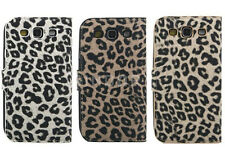Leopard Animal Printing Synthetic Leather Case Cover for Samsung Galaxy S3 i9300