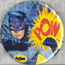 BATMAN POW! 60's TV Badge Button Pin - Retro COOL!  25mm and 56mm size!