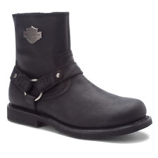 HARLEY DAVIDSON Mens Scout Waterproof Rugged Black Leather Boots D95262