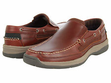 NEW IN BOX SEBAGO Mens Bowman Casual Slip On Shoes Brown Leather B11058