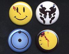 WATCHMEN Badges four Button Pins set - now in 25mm and LARGE 56mm size!