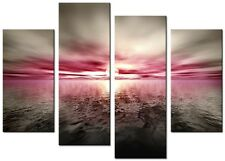 CANVAS WALL ART LARGE QUALITY ABSTRACT PRINTS CONTEMPORARY DIGITAL OASIS PINK