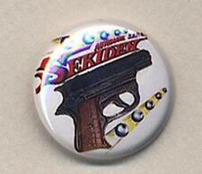 SEKIDEN TOY GUN Badge Button Pin - RETRO COOL! 25mm and 56mm size!