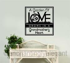 A Garden Of Love Vinyl Decal Wall Sticker Words Lettering & Wall Art Phrases