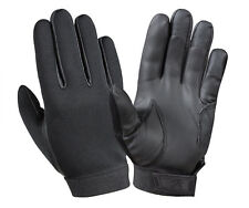 DUTY GLOVES BLACK NEOPRENE TACTICAL GLOVES LEATHER PALMS ROTHCO 3455