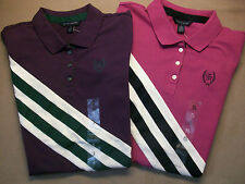 NEW Authentic TOMMY HILFIGER Womens SS Top Shirt Polo Cotton Stretch Striped