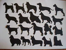 14 DOG SILHOUETTE DIE CUTS ASSORTED BREADS TOPPERS ANY COLOUR MIX & MATCH