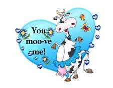 Custom Made T Shirt You Moo Move Me Cute Dancing Cow Hearts Butterfly Funny