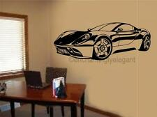 Sports Car Race Car Vinyl Decal Wall Sticker Garage Office Teen Decor Ferrari