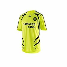 adidas Chelsea FC 2007-2008 Official Away Soccer Jersey Brand New Neon Yellow
