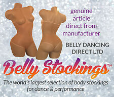 BELLY DANCE BODY STOCKING DANCE WEAR CARNIVALS TAN UNDER BUST THONG - ALL SIZES