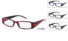 Clear Lens Fashion Glasses Nerd Thick Frames UV400 4 Colors Rectangle New CF1860