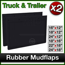 Universal TRUCK Trailer Tipper Lorry Van RUBBER MUDFLAPS Mud Flap Guards PAIR