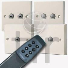 Varilight White Remote Touch Dimmer Light Switches + YRC8 Master/Slave Switches